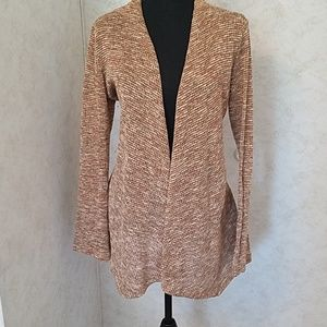Beige & orange cardigan